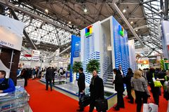 MosBuild 2012 Tentoonstelling, 11 april, 2012, Moskou, Rusland Stock Foto's