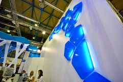 MosBuild 2012 wystawa, Kwiecień, 11 2012, Moskwa, Rosja Obrazy Royalty Free