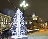 Moscú, árbol de navidad Fotografía de archivo