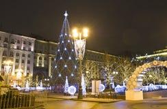Moscú, árbol de navidad Fotos de archivo libres de regalías