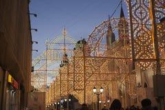 Moscú adornó el túnel por Año Nuevo y la Navidad Imagen de archivo