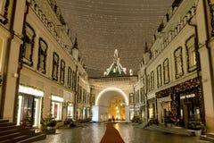 Moscú adornó por días de fiesta del Año Nuevo y de la Navidad Fotos de archivo