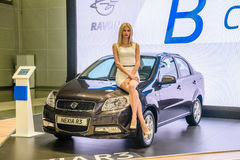 MOSCÚ - AGOSTO DE 2016: Ravon Nexia R3 presentó en MIAS Moscow International Automobile Salon el 20 de agosto de 2016 en Moscú, R Imagen de archivo libre de regalías