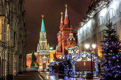 Moscú antes del Año Nuevo Fotografía de archivo