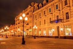 Moscú antes del Año Nuevo Imagen de archivo