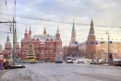 Moscú. calle del Nuevo-año Fotografía de archivo libre de regalías