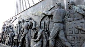 MOSCÚ, callejón de los cosmonautas de los monumentos Foto de archivo