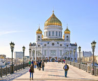 Moscú, catedral de Cristo el salvador Fotos de archivo libres de regalías