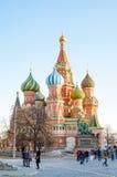 Moscú, catedral de la albahaca del St fotografía de archivo