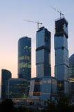 Moscú-ciudad en la puesta del sol Fotografía de archivo libre de regalías