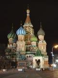 Moscú, cuadrado rojo, la catedral de la albahaca del St Imagenes de archivo