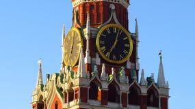 MOSCÚ, CUADRADO ROJO, TORRE DE SPASSKAYA Fotos de archivo libres de regalías