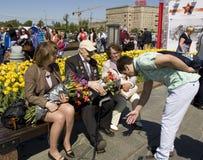 Moscú, día de la victoria del día de fiesta Foto de archivo libre de regalías