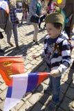 Moscú, día de la victoria del día de fiesta Fotos de archivo