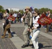 Moscú, día de la victoria del día de fiesta Fotos de archivo libres de regalías