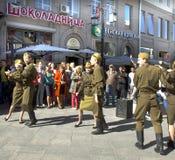Moscú, día de la victoria del día de fiesta Fotografía de archivo libre de regalías