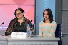 Valentina Nikanorova y Victoria Komova Fotos de archivo libres de regalías