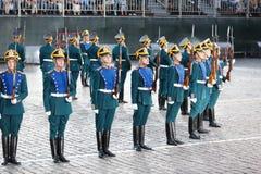 Soldados del guardia de honor del regimiento presidencial Imagen de archivo
