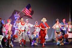 Los actores cantan en las brujas musicales de Eastwick Fotos de archivo