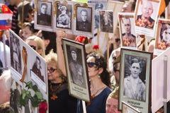 MOSCÚ 9 de mayo de 2015 70 años de victoria Foto de archivo