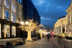 moscú Decoración de la Navidad de calles Foto de archivo libre de regalías