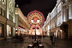 moscú Decoración de la Navidad de calles Fotos de archivo libres de regalías