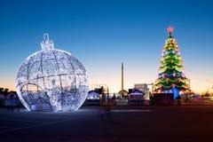 moscú Decoración de la Navidad en parque de la victoria Imagenes de archivo