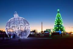 moscú Decoración de la Navidad en parque de la victoria Foto de archivo