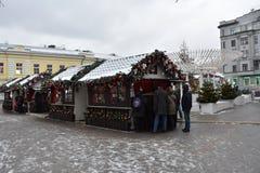 moscú el caminar al invierno de Moscú Imagenes de archivo