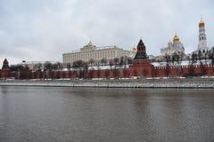 moscú el caminar al invierno de Moscú Fotos de archivo