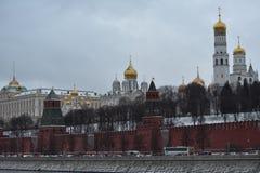 moscú el caminar al invierno de Moscú Fotografía de archivo libre de regalías