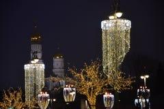 moscú el caminar al invierno de Moscú Imagen de archivo