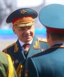 MOSCÚ, EL 7 DE MAYO DE 2015: Ministro de defensa, general Sergei Shoigu del ejército Foto de archivo