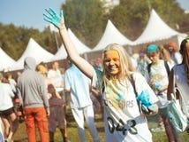MOSCÚ, EL 6 DE SEPTIEMBRE DE 2014: Color Fest septiembre de 2014 en Moscú Fotos de archivo libres de regalías