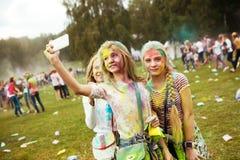 MOSCÚ, EL 6 DE SEPTIEMBRE DE 2014: Color Fest septiembre de 2014 en Moscú Fotos de archivo