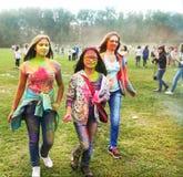 MOSCÚ, EL 6 DE SEPTIEMBRE DE 2014: Color Fest septiembre de 2014 en Moscú Fotografía de archivo