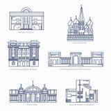 Moscú el Kremlin, banco del centro cultural del Brasil, museos de bellas arte de Fotografía de archivo