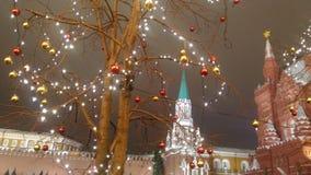 Moscú el Kremlin en la noche Foto de archivo libre de regalías