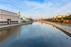 Moscú el Kremlin por la mañana, Rusia Fotografía de archivo