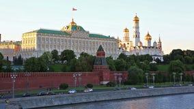 Moscú el Kremlin, sitio del patrimonio mundial de la UNESCO almacen de video