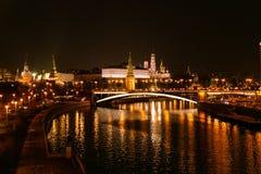 Moscú en la noche imagen de archivo libre de regalías