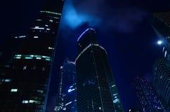 Moscú en la noche Imágenes de archivo libres de regalías