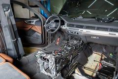 moscú En noviembre de 2018 Centro de servicio de reparación del coche de Audi E r r imagenes de archivo