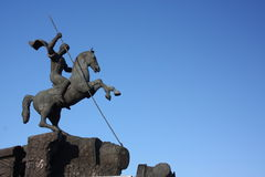 Moscú. Estatua de San Jorge Imagenes de archivo