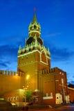 Moscú Kremlin en la noche imagenes de archivo