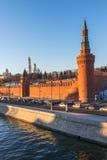 Moscú kremlin en la puesta del sol Imágenes de archivo libres de regalías