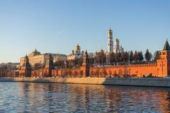 Moscú kremlin en la puesta del sol Imagen de archivo libre de regalías