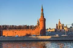 Moscú kremlin en la puesta del sol Imagen de archivo