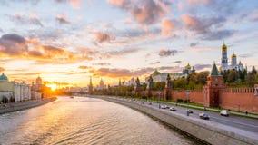 Moscú Kremlin por la tarde Imágenes de archivo libres de regalías