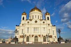 Moscú, la catedral de Cristo el salvador en verano Imágenes de archivo libres de regalías